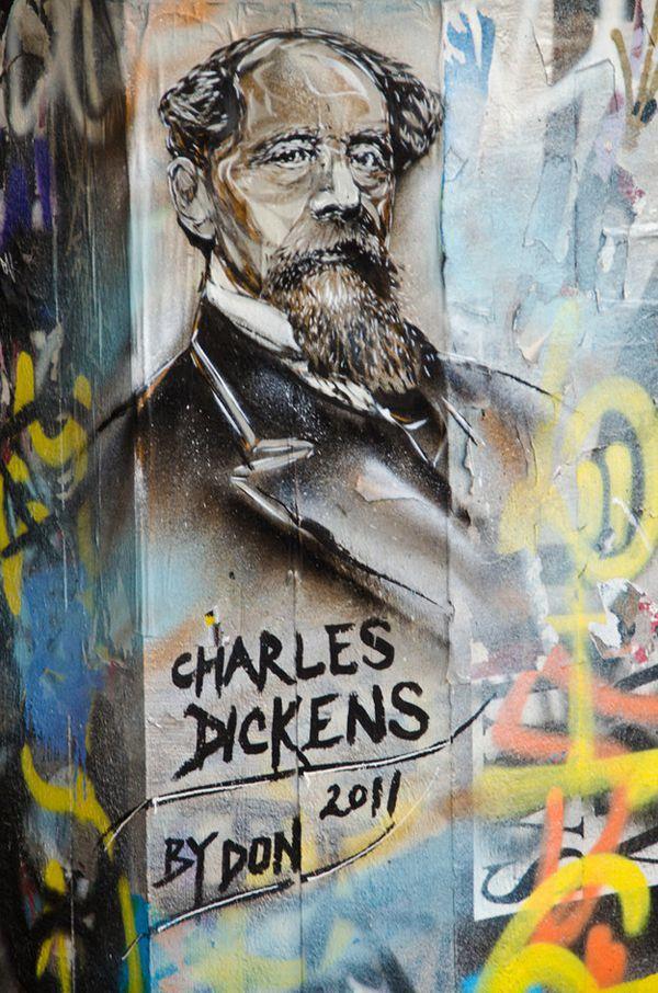 Charles Dickens, South Bank, London