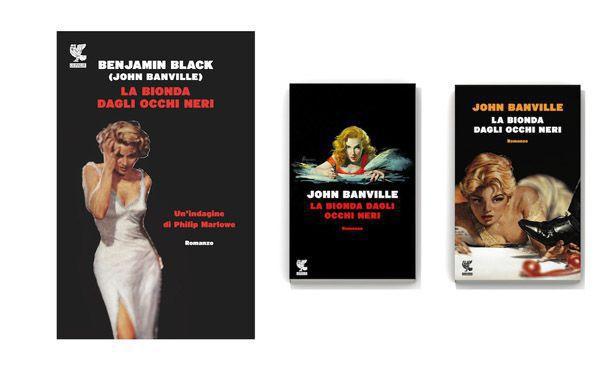 John Banville, La bionda dagli occhi neri A sinistra: copertina approvata, illustrazione di Thomas Allen A destra: illustrazioni di Robert A. Maguire e Thomas Allen